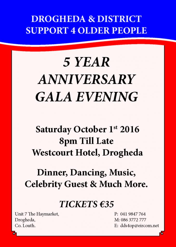 5 year anniversary gala A5 poster
